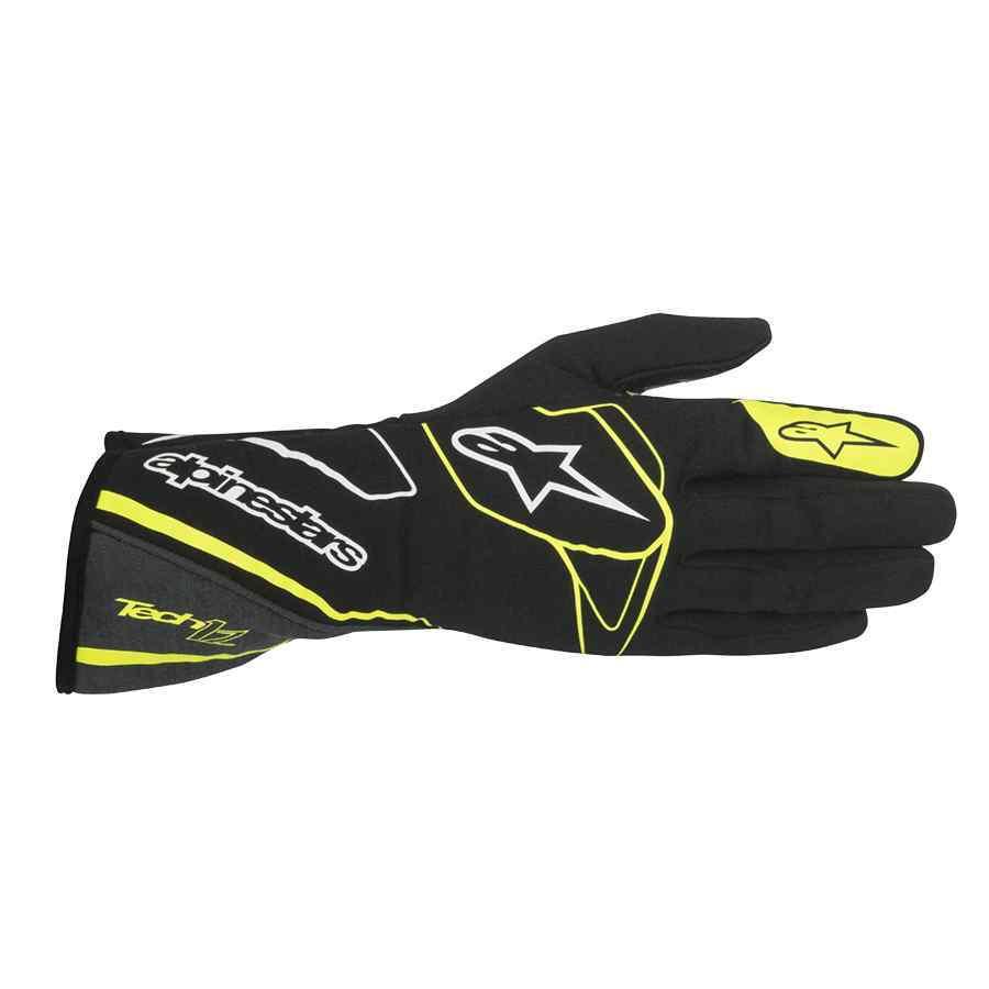 Alpinestars handschoen rallysport Tech 1Z zwart fluo geel