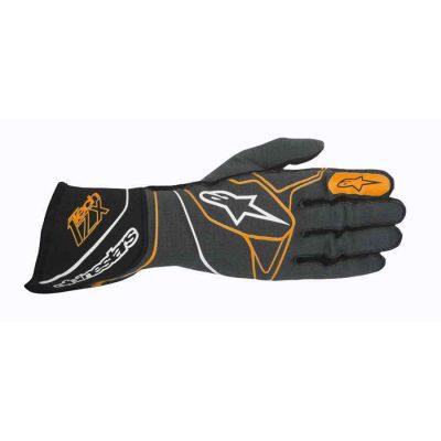 Alpinestars Tech 1 ZX FIA handschoen Antraciet Zwart Oranje