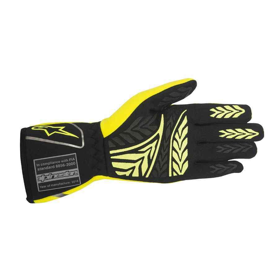 Alpinestars Autosporthandschoen Tech 1-Race FIA fluo geel