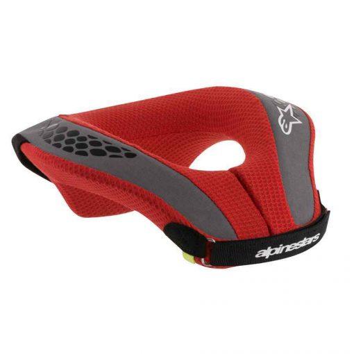 Alpinestars nekbeschermer voor karting - rood zwart