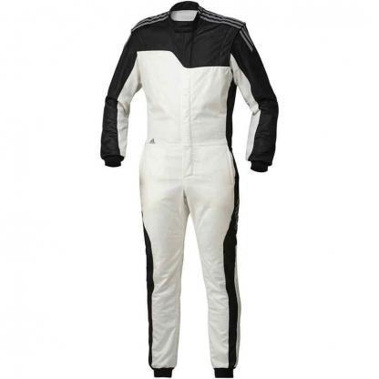 Adidas RSR Climacool gehomologeerde overall voor autosport wit zwart