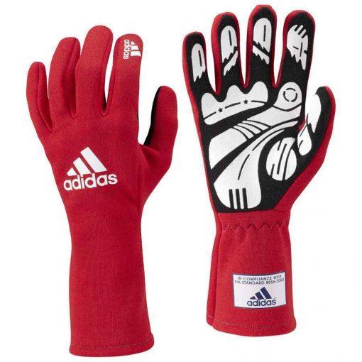 Adidas Daytona handschoen voor autosport rood FIA gehomologeerd