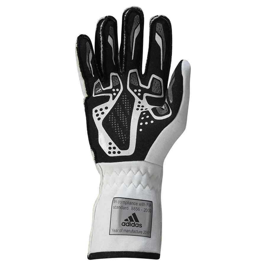 8c780bbc0da F94312_RSR_NOMEX_GLOVES_RIGHT. Adidas RSR FIA handschoenen wit zwart voor  autosport; F94312_RSR_NOMEX_GLOVES_RIGHT