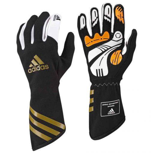 Adidas Kart XLT handschoenen voor karting zwart metallic goud