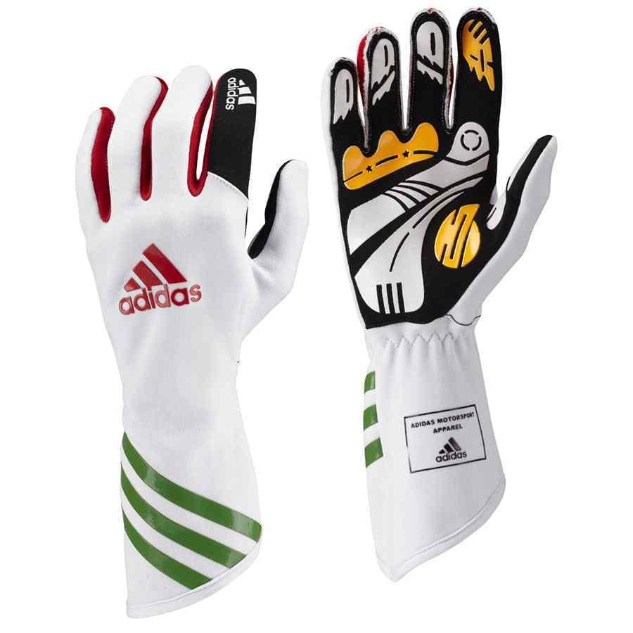 Adidas Kart XLT handschoenen kartsport wit rood groen