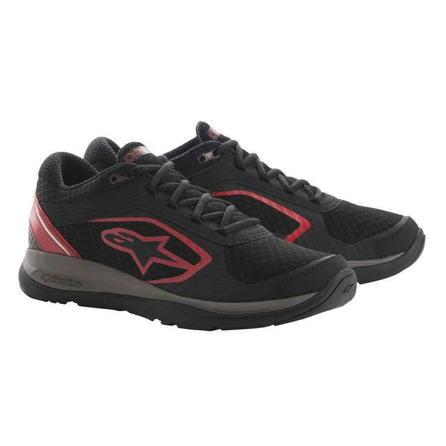 Alpinestars Alloy monteurs schoen met veters zwart rood