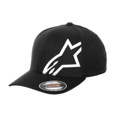 Alpinestars corp shift 2 curved brim pet zwart wit logo