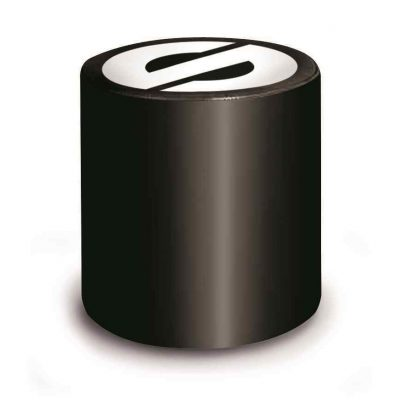 Sparco pouf poef kleur zwart met witte logo's van Sparco