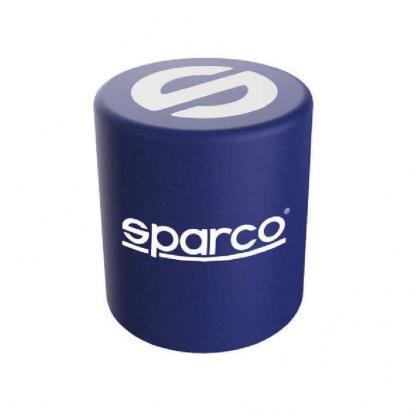 Sparco pouf poef kleur blauw met witte logo's van Sparco