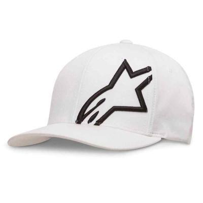 Alpinestars corp shift 2 flexfit pet wit met zwart logo