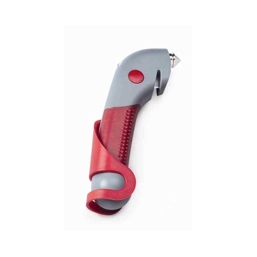 Sparco veiligheidshamer voor autoruit grijs rood met bolbevestiging
