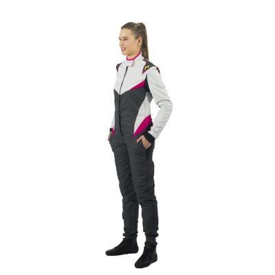 P1 Raceoverall Type Donna - Zilver/ Anthraciet/ Fuschia