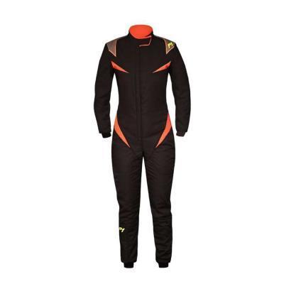 P1 Racewear Raceoverall Type Donna - Zwart/ Oranje