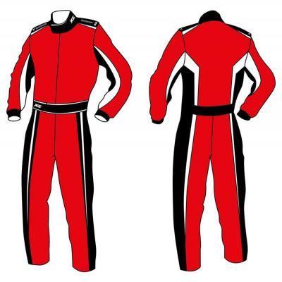 X'Zuit overall voor kartsport CIK-FIA homologatie patroon 1