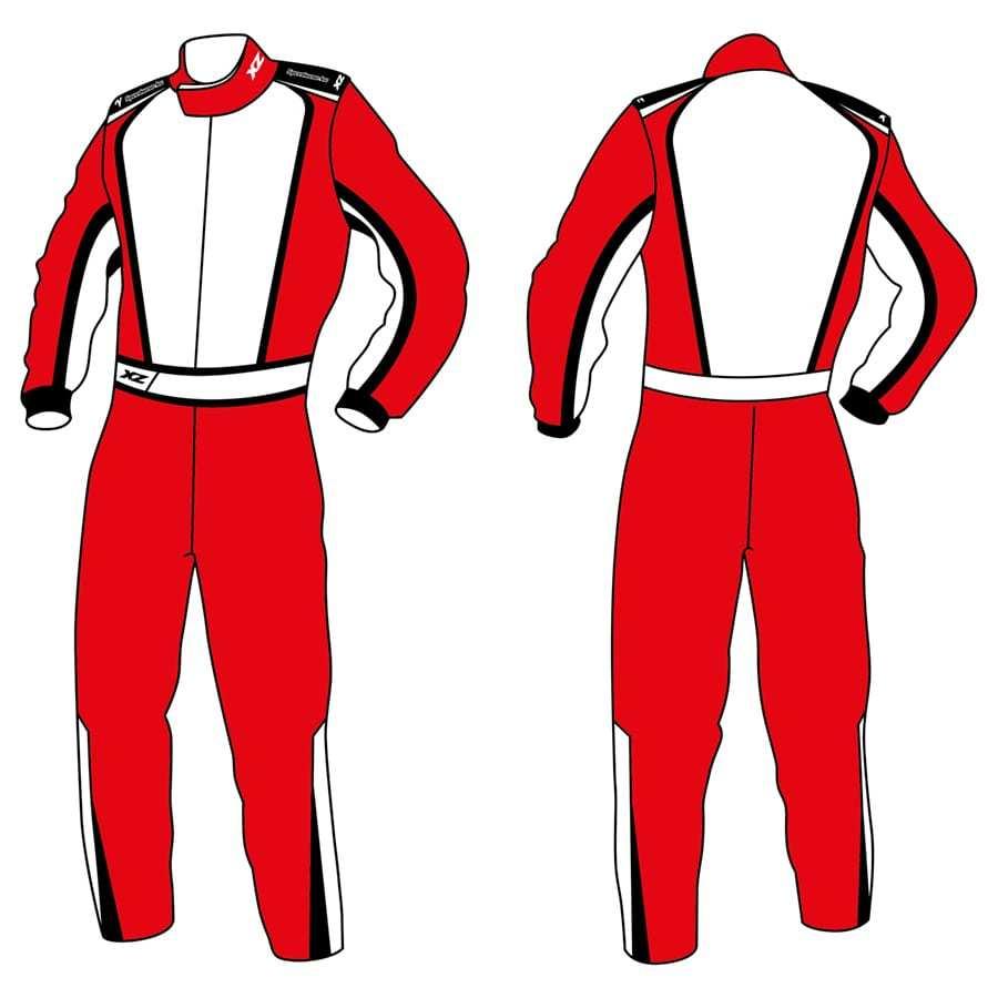 X'Zuit kartingpak met CIK-FIA homologatie made to measure patroon 9