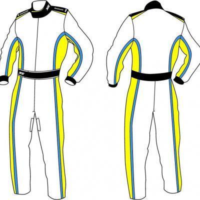 X'Zuit overall voor kartsport CIK-FIA homologatie patroon 3
