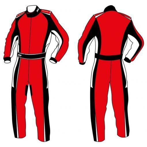X'Zuit overall voor kartsport CIK-FIA homologatie patroon 4