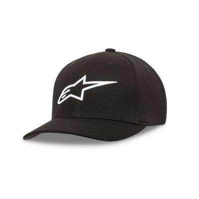 Alpinestars Stretch Mesh Pet Zwart/ Wit - coole pet voor heren