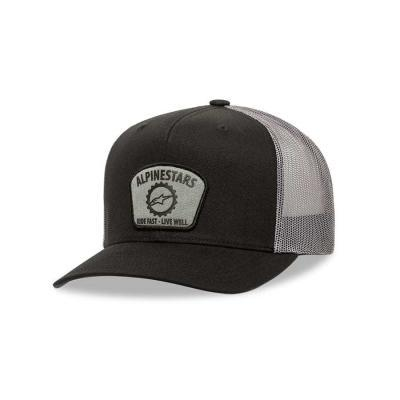 Alpinestars Garage Trucker Pet Zwart/ Charcoal OS