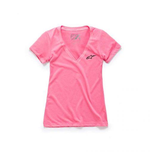 Alpinestars Women's Ageless V neck trendy T-shirt Roze