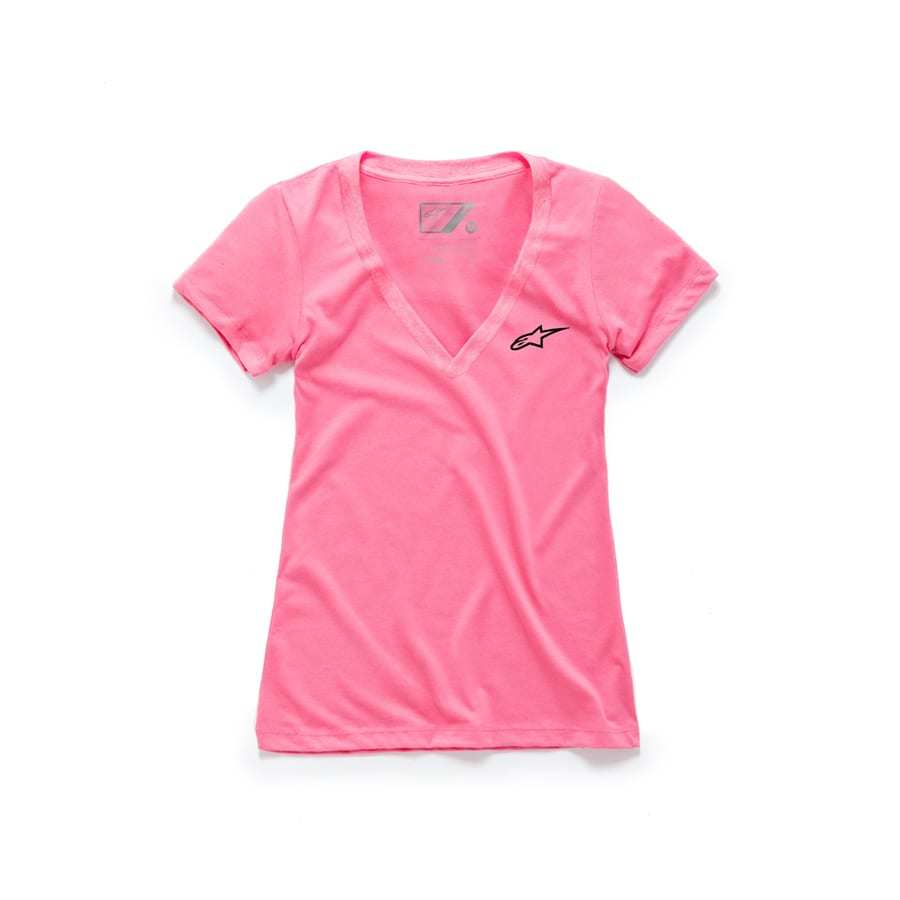 Alpinestars Women's Ageless V neck trendy T-shirt Roze