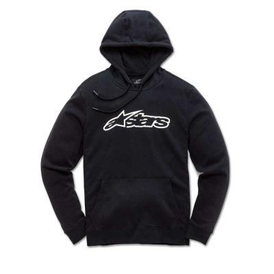 Alpinestars Blaze Fleece Zwart Wit - Modieuze kids sweater met kap