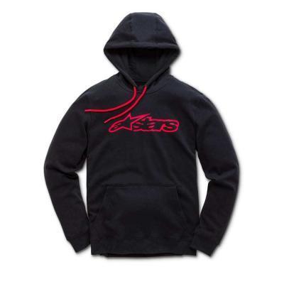 Alpinestars Blaze zwart / rood trendy hoody voor heren