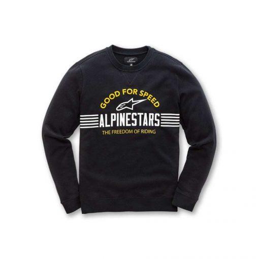 Alpinestars Bars Fleece Zwart - Trendy herensweater crew neck