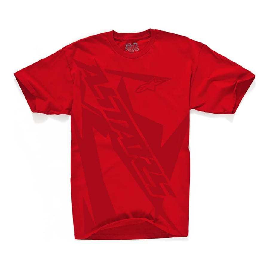 Alpinestars Biohazard - Trendy herenshirt ronde hals rood