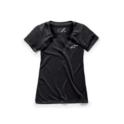 Alpinestars Women's Ageless V neck trendy T-shirt voor vrouwen zwart