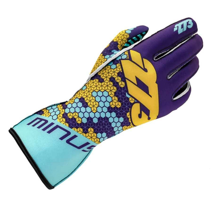 Minus 273 Karting Glove Buzz Turquoise Paars Geel