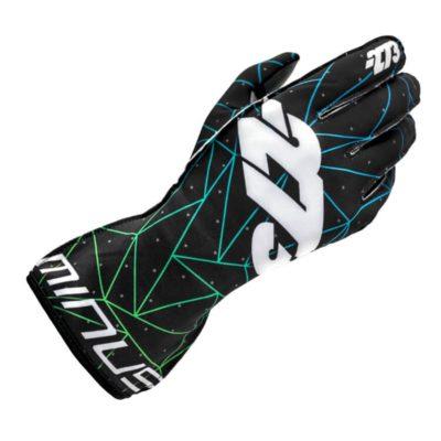 Minus 273 Kartinghandschoen Poly Zwart Blauw Groen - Trendy