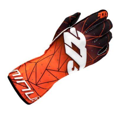 Minus 273 Poly Kartsporthandschoen - Oranje Zwart Wit