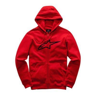Alpinestars Ageless Fleece - herensweater rood met volledige ritssluiting