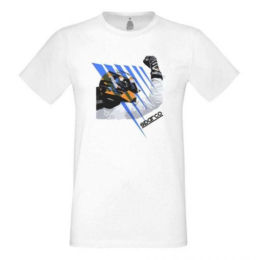 Sparco trendy T-shirt driver Stoffel Vandoorne wit met print