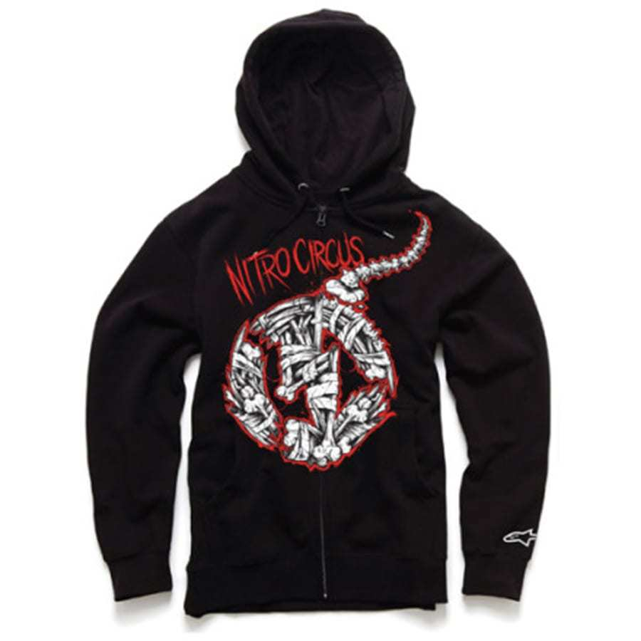 Alpinestars Busted Bones Zip Fleece - Nitro Circus herensweater zwart
