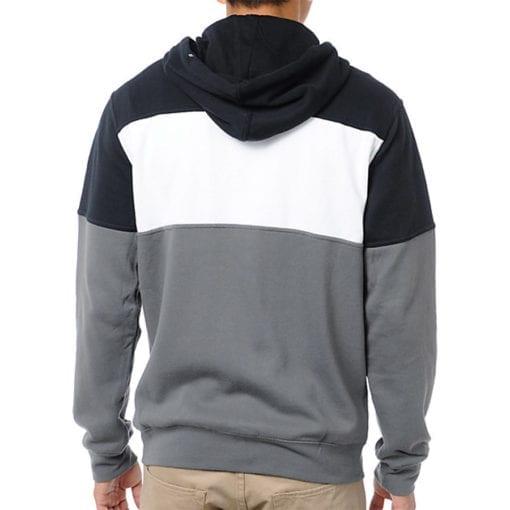 Alpinestars Champ Fleece - Herensweater zwart grijs wit met zip 2