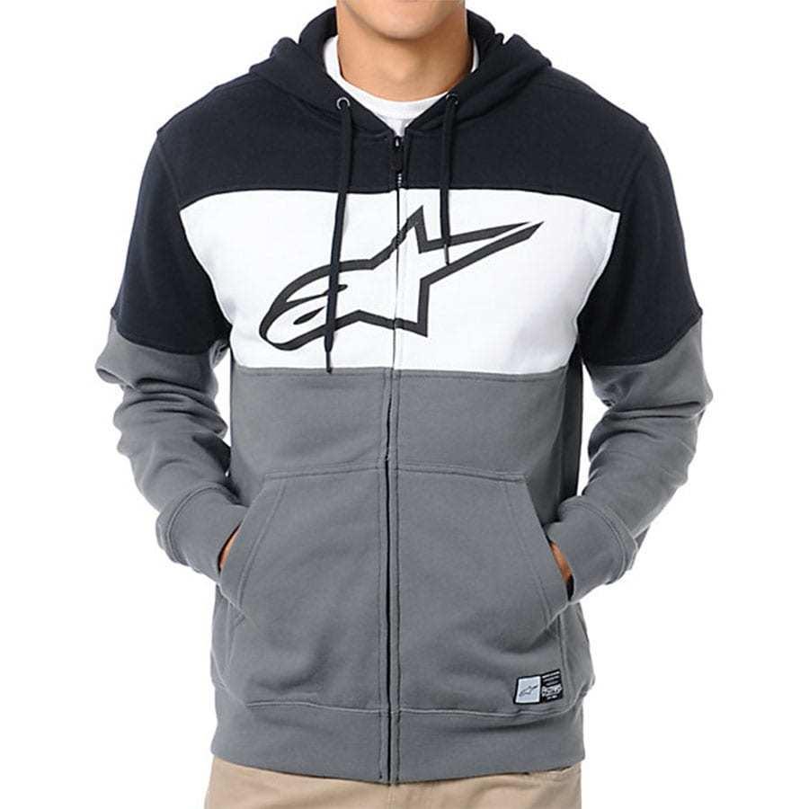 2f32a415e2a Alpinestars Champ Fleece - Herensweater zwart grijs wit met zip