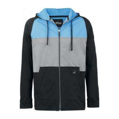 Alpinestars Union Fleece - Moderne zipped sweater zwart blauw grijs