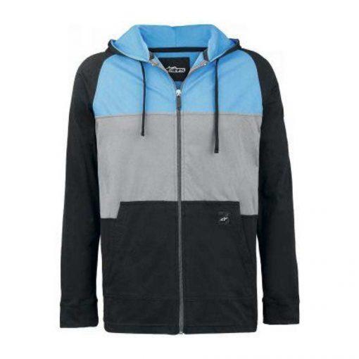Alpinestars Union Fleece - Moderne zipped sweater zwart blauw grijs