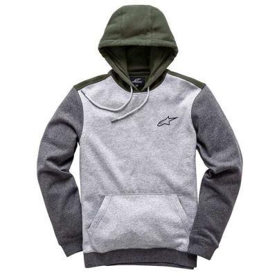 Alpinestars overshot fleece - modieuze hoody voor mannen grijs en groen