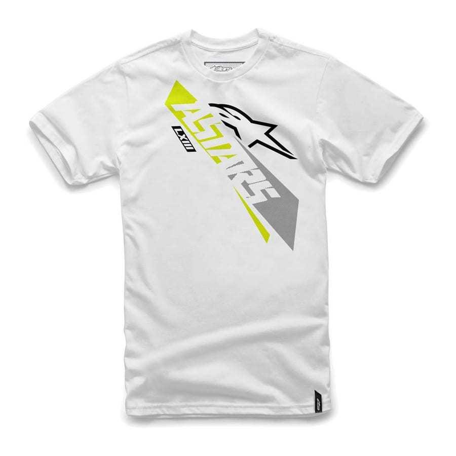 Alpinestars Precise trendy T-shirt voor heren wit met ronde hals