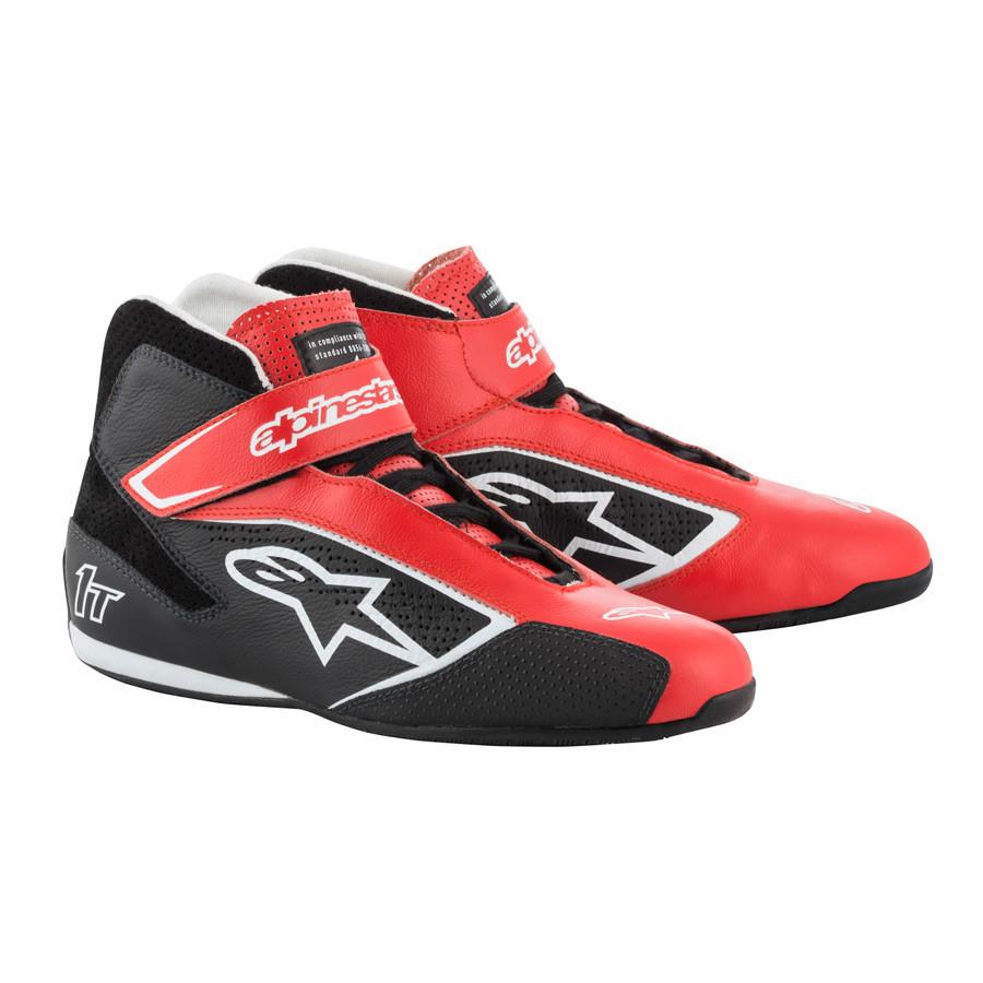 3e3647dd73e Alpinestars autosport schoen FIA Tech-1 T Rood Zwart Wit