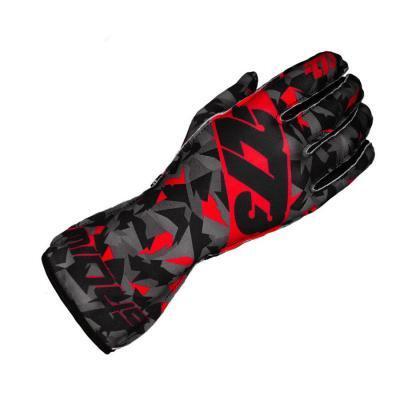 Minus 273 Karting Gloves Camo Zwart Grijs Rood - Supergrip