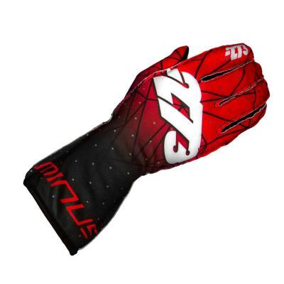 Minus 273 Karting Gloves Poly Rood Zwart - Supergrip