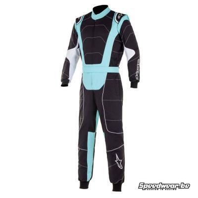 Alpinestars KMX3 V2 Kartoverall - Zwart Turquoise