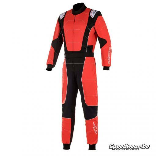Alpinestars KMX-3 V2 racepak voor karting - Rood Zwart Wit
