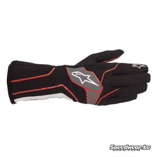 Alpinestars Tech 1 K v2 handschoen karting - Zwart Rood Wit