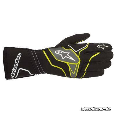 Alpinestars handschoen voor kart Tech 1 KX v2 -Zwart Fluo geel Anthraciet