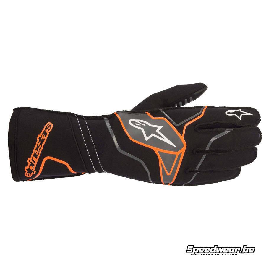 Alpinestars Tech 1 KX v2 karting handschoen -Zwart Fluo oranje